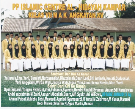 Fhoto Lokal Kelas VII MAK PP. Islamic Centre Alhidayah Boarding School Kampar